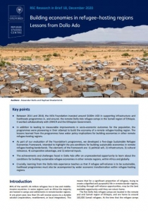 Research in Brief: Building Economies in Refugee-Hosting Regions: Lessons from Dollo Ado Cover Image