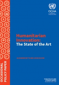 Humanitarian Innovation: The State of the Art Cover Image