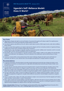 Research in Brief: Uganda's Self-Reliance Model: Does it Work? Cover Image